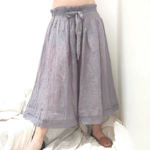 🆕Free People Lavender Crepe Linen Wide Leg Pants